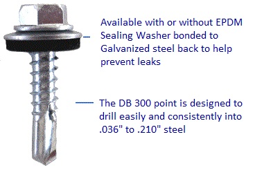 db 300 sheet to purlin self drill